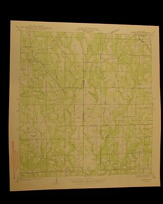 Albany Louisiana 1927 vintage USGS Topo color chart map