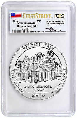 2016 25c 5 Oz Silver ATB Harpers Ferry PCGS MS69 DMPL FS (Mercanti) SKU41218