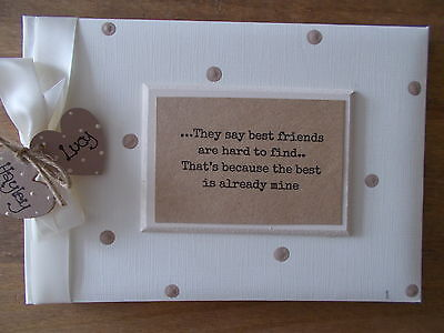 Personalised Best Friends Photo Album/Scrapbook/Memory Gift With Box