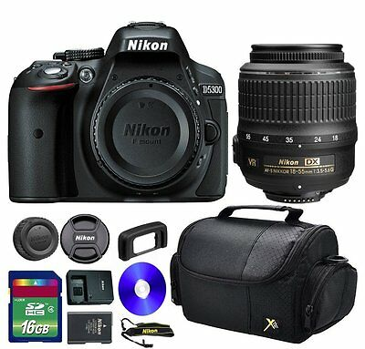 Nikon D5300 24.2 MP CMOS Digital SLR Camera + 18-55mm VR Lens + More!
