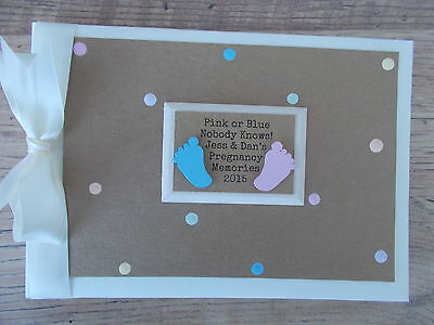 Personalised Pregnancy Photo Album Scrapbook/Memory Gift With Box