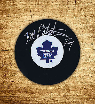 Mike Palmateer Autographed Leafs Puck