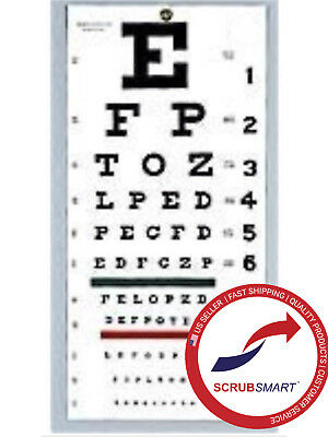 "US Seller Free Shipping 3 Pack- 3 Wall Snellen Eye Exam Test Chart 22"" x 11"""