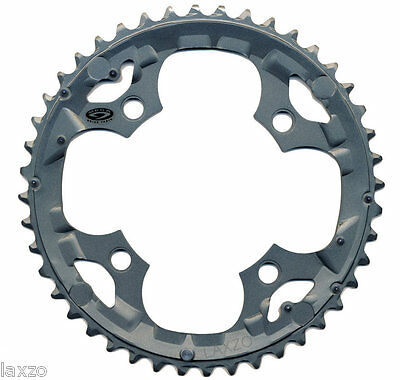 Shimano Deore FC-M590, FC-M591 /44 Tooth 9-Speed Chainring Grey 104mm 4 Bolt