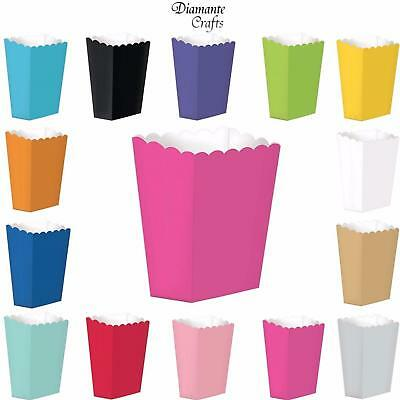 Popcorn Boxes - Solid Colours - Sweet Party Favour Loot Treat Cinema