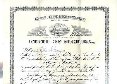 NN-080 - Albert W. Gilchrist, 20th Governor of Florida Signature on Certificate