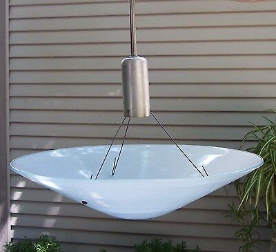 "vintage large 21"" magnalux luminaire art deco glass pendant light one or two"