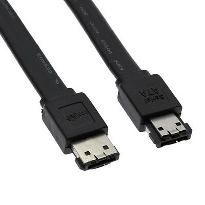 """18"""" Inch (0.5m) eSATA to eSATA 3.0Gbps Shielded Data Cable"""
