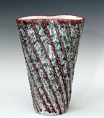 Vintage Large Pinched FF Fanciullacci Squeezebag Italian Art Pottery Raymor Vase