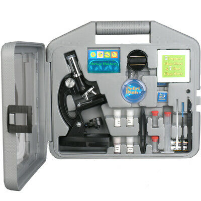 AMSCOPE-KIDS 120X-1200X Six Power Metal Arm Children Biological Microscope Kit