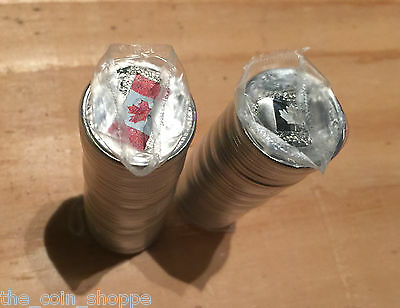 CANADIAN FLAG : 2015 quarter 25 Cent Mixed Roll Color Non Color SEALED