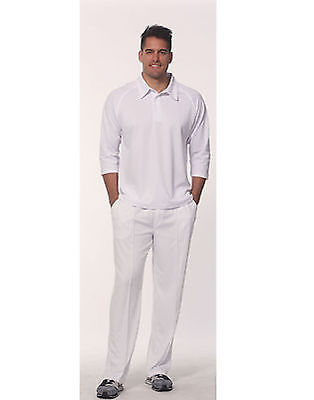 Mens Adult Cricket Pants White Cream 100% Polyester Breathable Sport Cp29