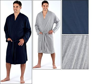mens robe dressing gown kimono cotton