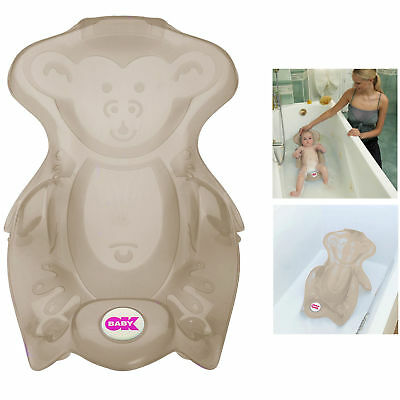 New Ok Baby Monkey Bath Seat Taupe For Use With Laguna Tub Or Adult Bath 0+