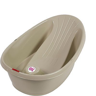 New Ok Baby Onda Baby Shower Bath Taupe From Birth With Thermometer Ergonomic