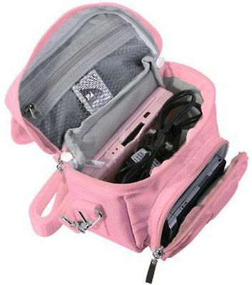 Pink Travel Bag Carry Case For Nikon S7000 Coolpix Compact Digital Camera