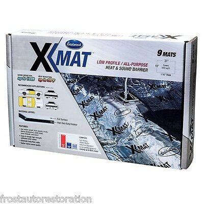 Eastwood X-mat Low Profile Sound Deadening Thermo-Coustic Material 3 Pack 12118