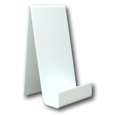 10 Large White Perspex Acrylic Plastic Book Plate Retail Display Stand Holder