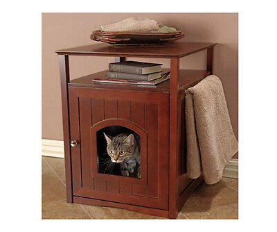Cat Litter Box Furniture Hidden Enclosed Extra Large Kitty Enclosure Bed Table