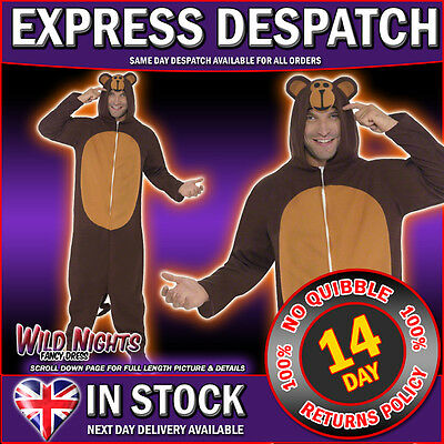 """Fancy Dress Costume # Adult All In One Monkey Costume 38""""-44"""""""