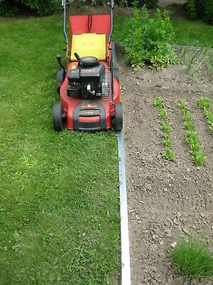 20x Broad Lawn Edging Gras Border Metal Fence 20 cm high with double antirust
