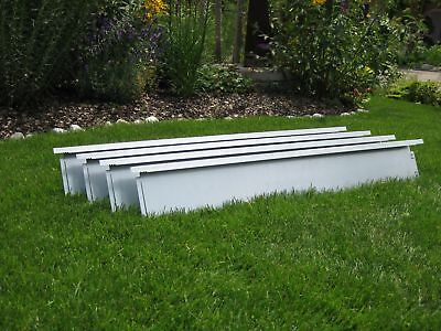 25 Meter Metal Border Broad Lawn Edging 20 cm high with Click-Fix-System