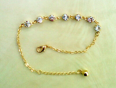 Stunning Jingly Foot Chain Anklet Ankle Bracelet -With Crystals That Sparkle