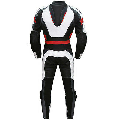 Men Motorbike Leather Suit Motorcycle Leather Suit Jacket+Trouser