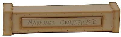East of India Wedding Gift MARRIAGE CERTIFICATE HOLDER - Lovely item