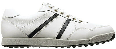 FootJoy Contour Casual Spikeless Golf Shoes Closeout White/Black 54363 Mens New