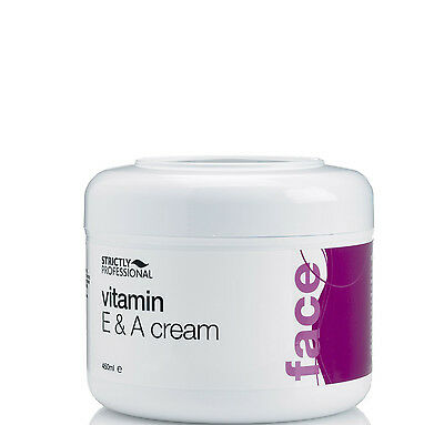 Strictly Professional Vitamin E & A Face Body Moisturiser Cream 450ml SPB0630