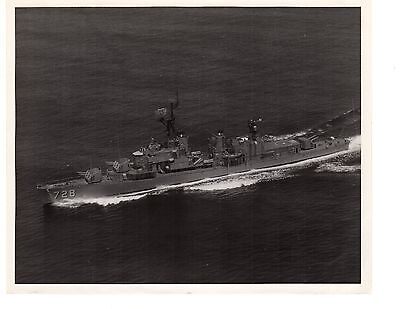 USS Mansfield DD728 Destroyer Navy Ship Photograph 8x10 BW