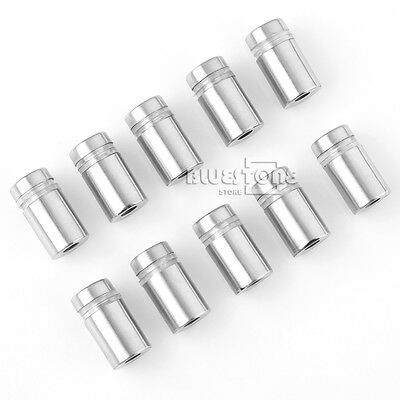 10X 12*20mm Stainless Steel Advertise Glass Standoff Pin Fixing Mount Bolt Nails
