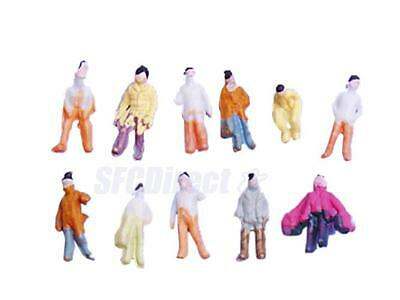 100 Model Train Railroad People Figures Passenger scenery hobby craft dollhouse