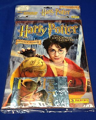 Harry Potter and The Chamber of Secrets  Sticker Album with Sealed 10 card Pack