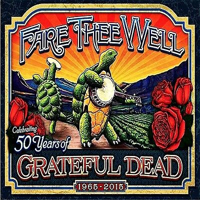 *Grateful Dead Fare Thee Well Hippie Biker in/outdoor Vinyl Bumper Sticker Decal
