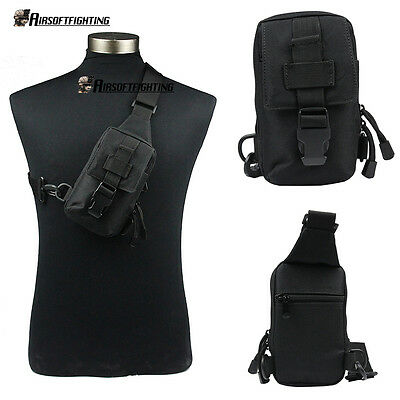 Tactical Hunting Chest Pack Shoulder Sling Bag Backpack Phone/Card/Wallet Pouch