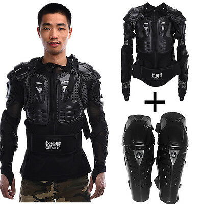 Motorcycle Motocross Protective Jacket Armor + Knee Pad Racing Off-road Gear Hot