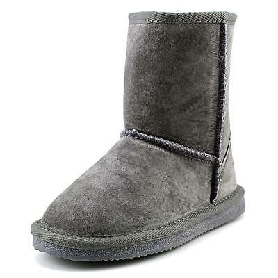 Lamo Kids Classic Boot Youth  Round Toe Suede Gray Winter Boot