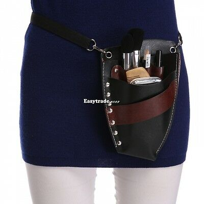 Pro Hairdressing Scissors Clips Storage Belt Waist Bag/PU Pouch/Holster Holder
