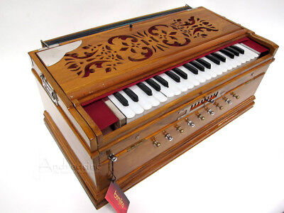 New Pro Quality Hand Made Banjira Indian Harmonium Fixed Scale Changer