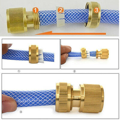 Brass Hose Pipe Fitting Tap Hosepipe Quick Connectors Garden Water Tap Connector
