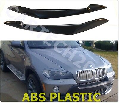 BMW X5 E70 , Headlights Eyebrows, Eyelids, ABS plastic, tuning