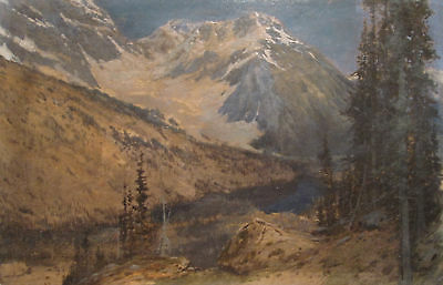 Antique American West Painting Mccord Listed Artist Sierra Nevada Mountains Ca