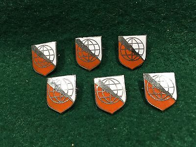 Lot of 6 1970's Vintage US Army Communications Command Pins