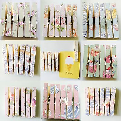Peg Magnets Magnetic Pegs Vintage Kitchen Fridge Shabby Chic Cupcakes Roses
