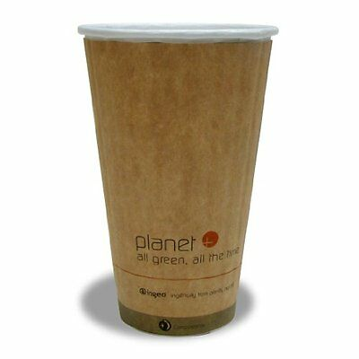 NEW Planet + 100% Compostable PLA Laminated Double Wall Insulated Hot Cup, 16oz