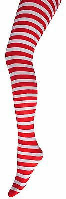 Children's Stripy Tights-11 Colours -Kids Fancy Dress Stripe Tights-Halloween