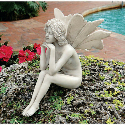 "Design Toscano ""Secret Garden Fairies"" Pondering Fairy Ornament"
