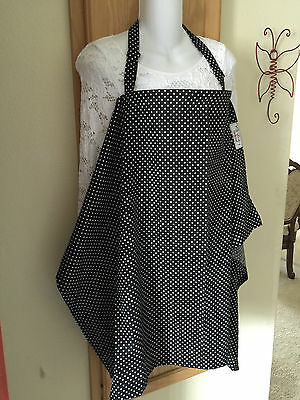 nursing cover privacy apron breastfeeding cover cool breathable dots black
